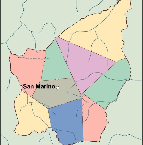 san marino vector map