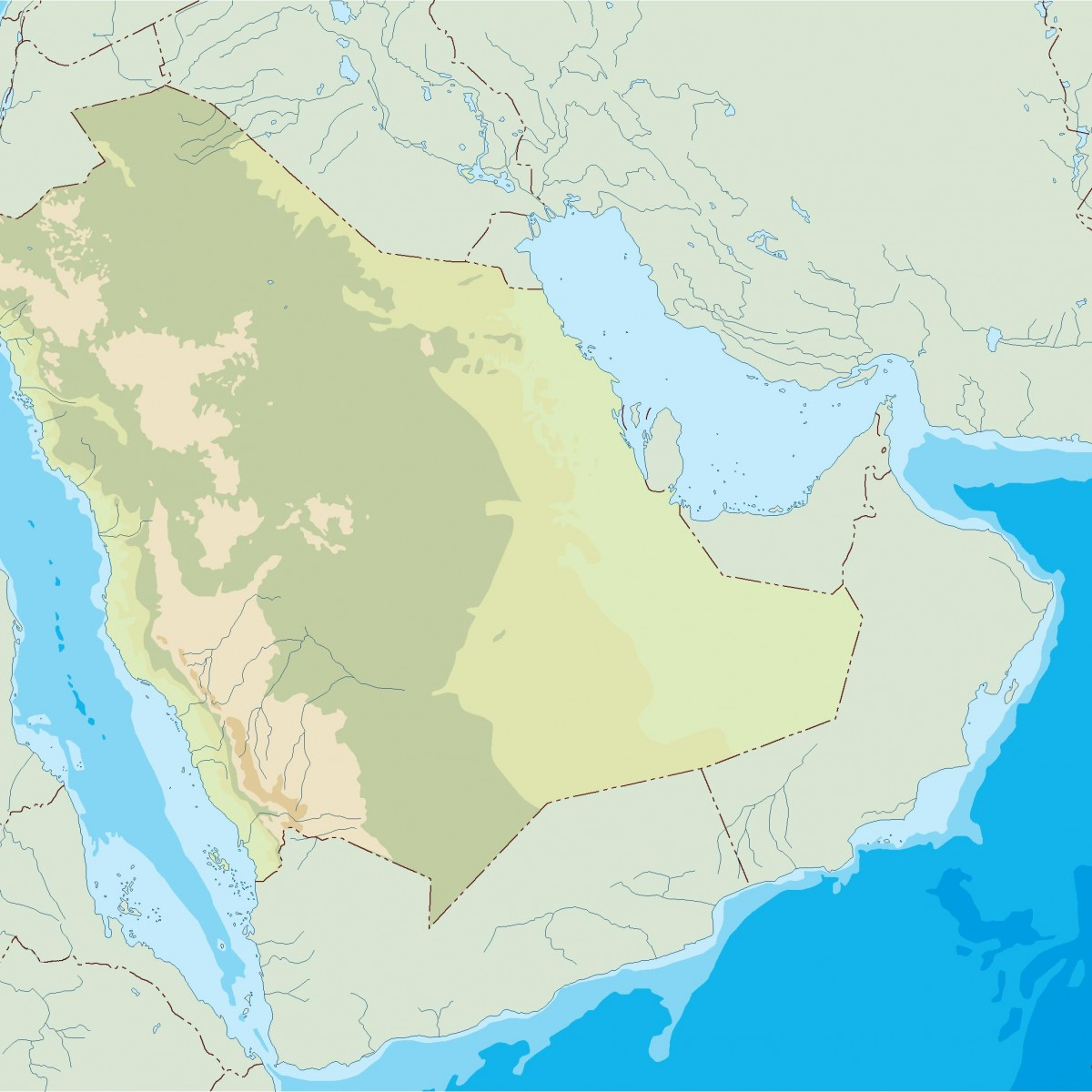saudi arabia illustrator map