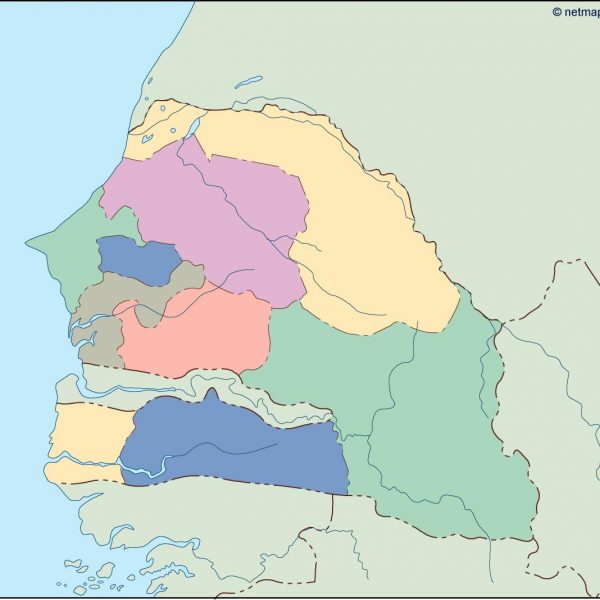 senegal blind map