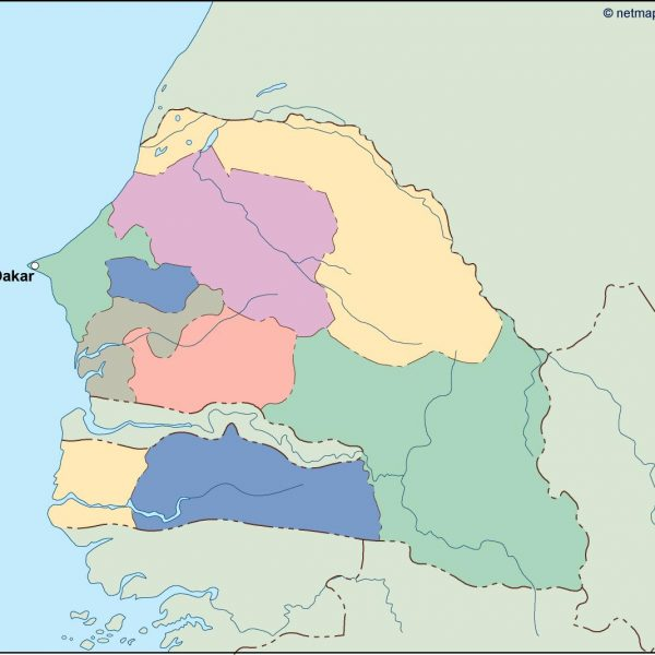 senegal vector map
