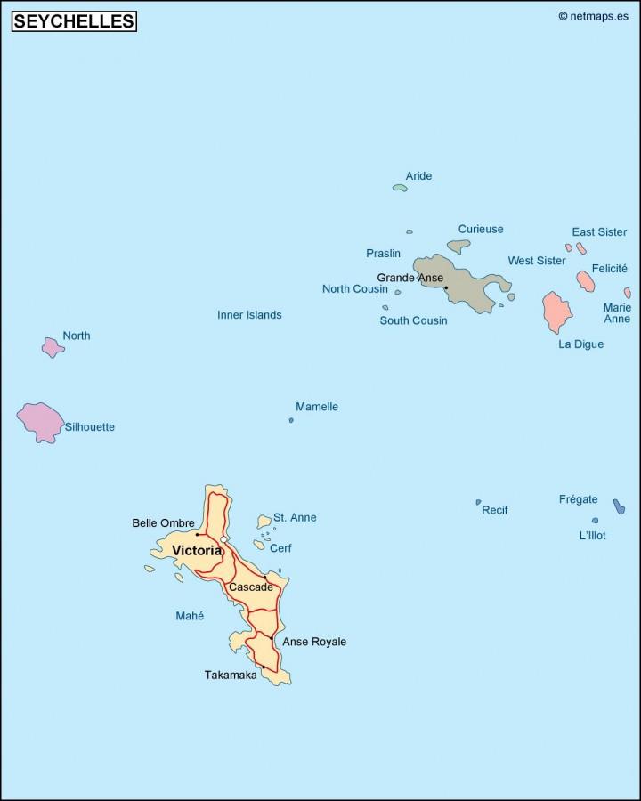 Seychelles Political Map Vector Eps Maps Eps Illustrator Map - Seychelles map world