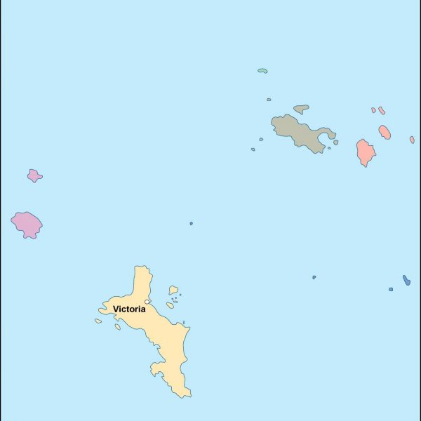 seychelles vector map