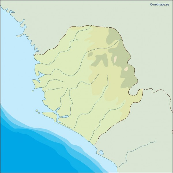 sierra leone illustrator map