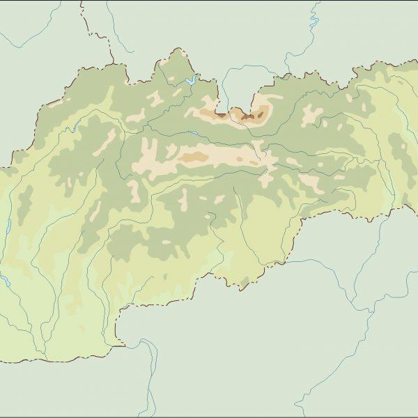 slovakia illustrator map