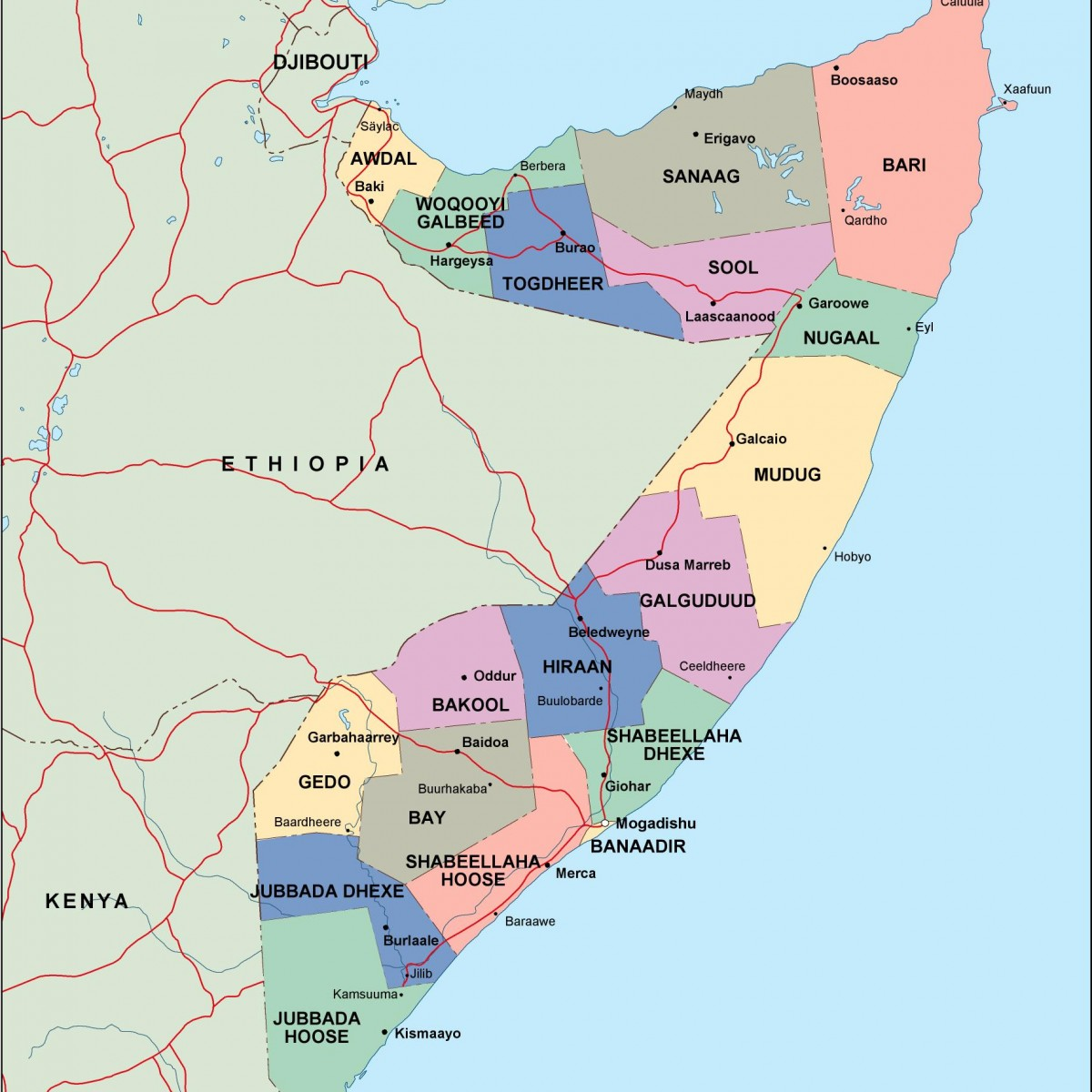 somalia political map. somalia political map vector eps maps eps illustrator map  our