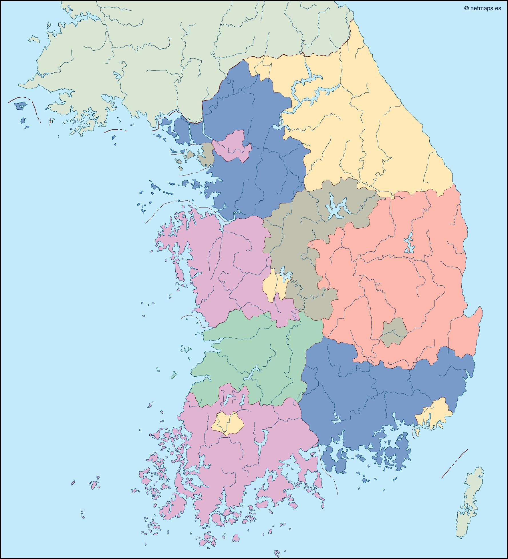 south korea blind map