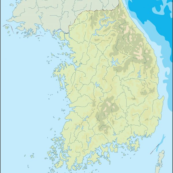 south korea illustrator map