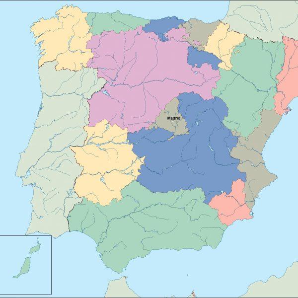 spain vector map
