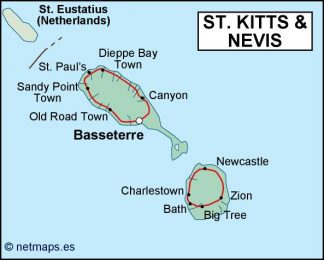 st kitts and nevis political map on ukraine map, senegal map, albania map, montenegro map, redonda map, slovenia map, anglosphere map, svalbard and jan mayen map, caribbean map, yisrael map, monaco map, tokelau map, timor-leste map, lesotho map, virgin islands map, nevis island map, south georgia and the south sandwich islands map, serbia map, nevis on world map, singapore map,