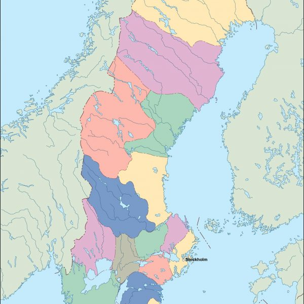 sweden vector map