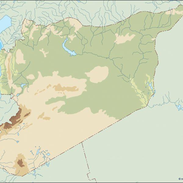 syria illustrator map