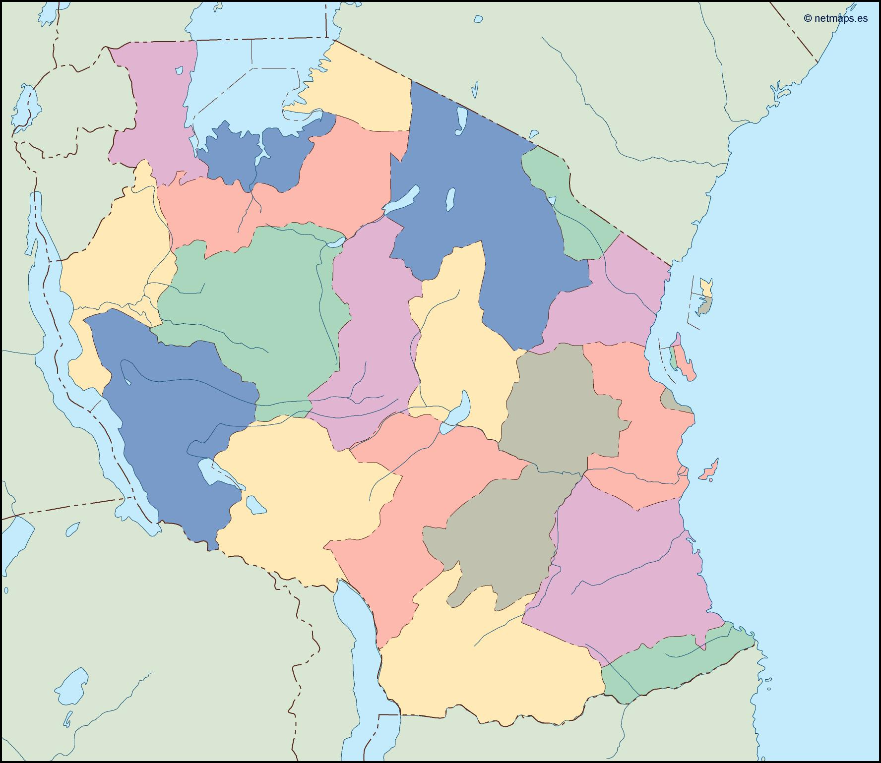 Country Vector Maps Africa Vector Africa Maps Illustrator Maps Of