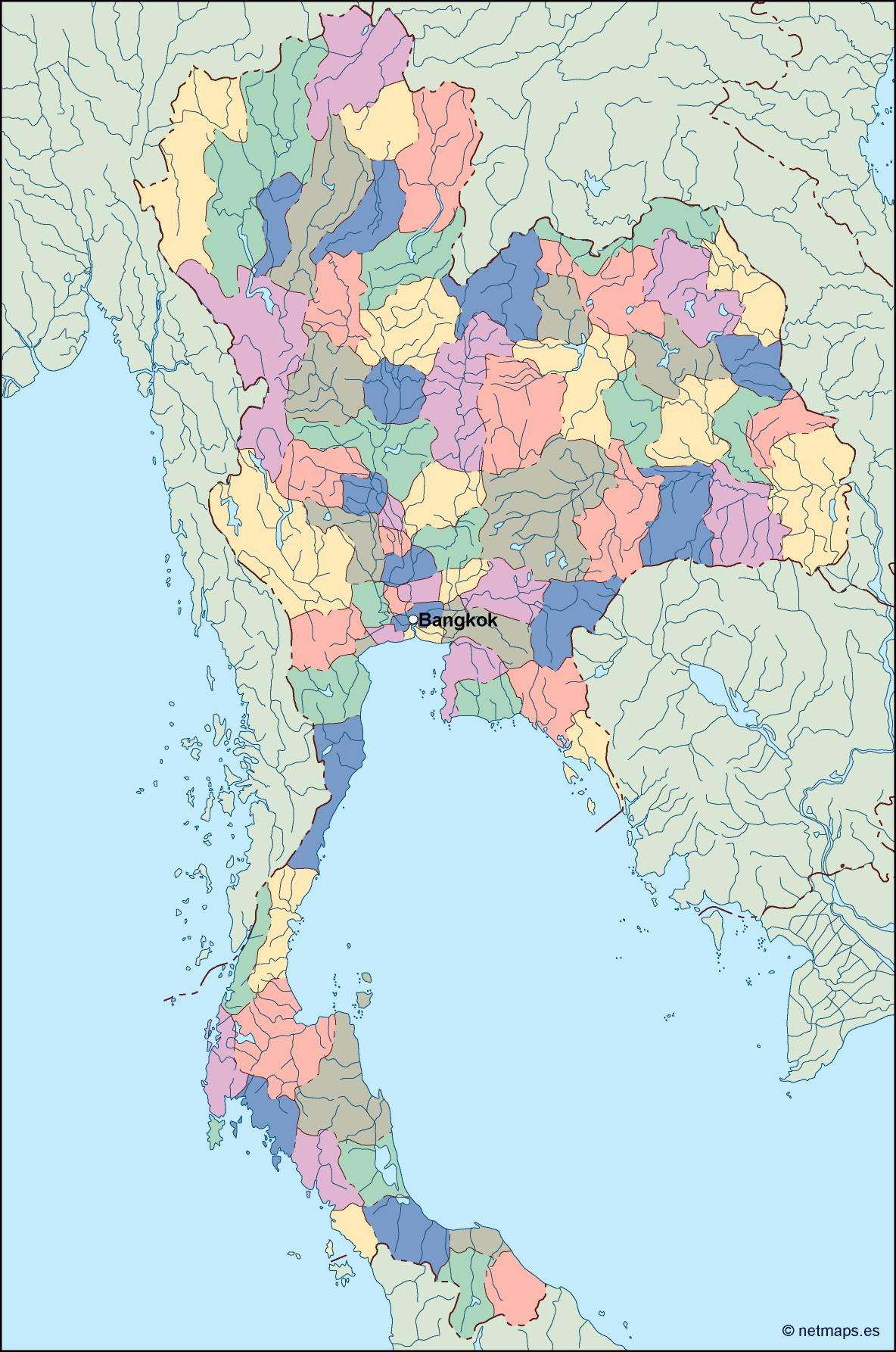 Togo vector map eps illustrator map our cartographers have made thailand vector map gumiabroncs Images