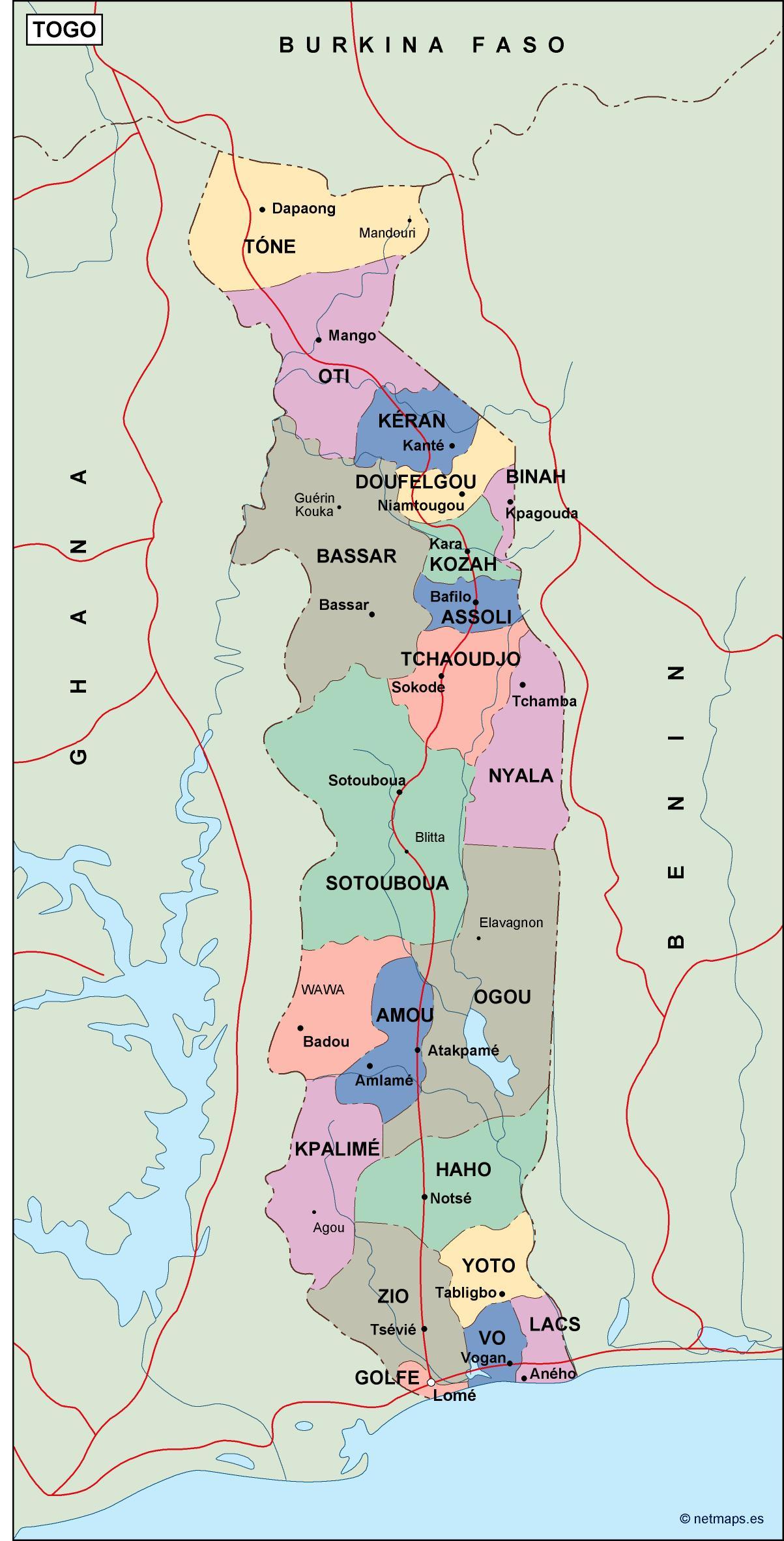 togo political map on rwanda map, africa map, ghana map, sierra leone map, angola map, malawi map, libya map, switzerland map, benin map, kenya map, sudan map, tunisia map, sweden map, tonga map, uganda map, morocco map, egypt map, zimbabwe map, madagascar map, algeria map, usa map, burkina faso map, chad map, comoros map, mali map, nigeria map, niger map, senegal map, guadeloupe map, congo map, namibia map, mozambique map, bahrain map, ethiopia map,
