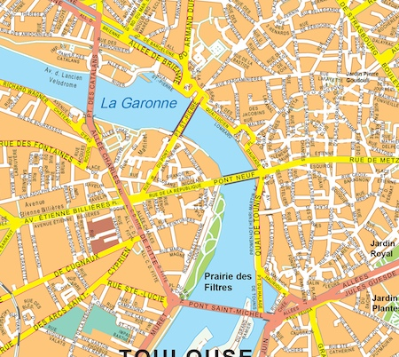 Toulouse vector map. Eps Illustrator Map | Vector World Maps