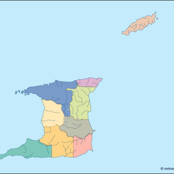 trinidad and tobago blind map