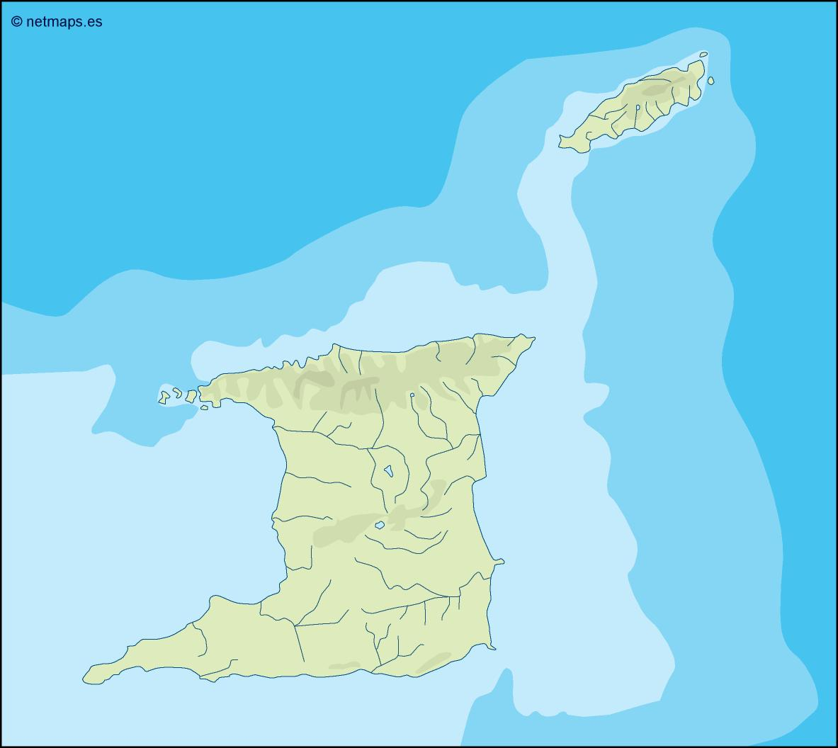 Picture of: Trinidad And Tobago Illustrator Map Eps Illustrator Map Vector World Maps