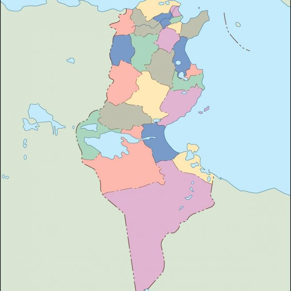 tunisia blind map