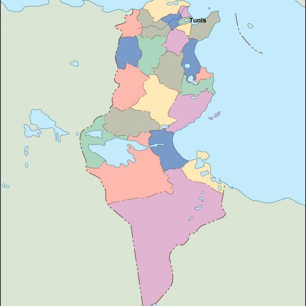 tunisia vector map