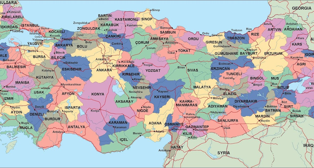 Turkey Political Map Illustrator Vector Eps Maps Eps Illustrator - Turkey map