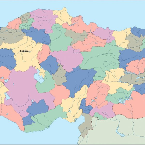turkey vector map