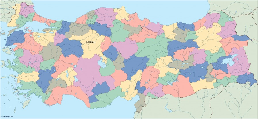 turkey vector map Illustrator Vector Eps maps Eps Illustrator Map
