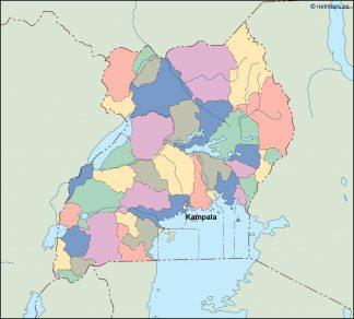 uganda vector map. Vector Eps maps. Eps Illustrator Map | Vector ...