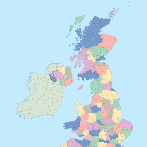 united kingdom blind map