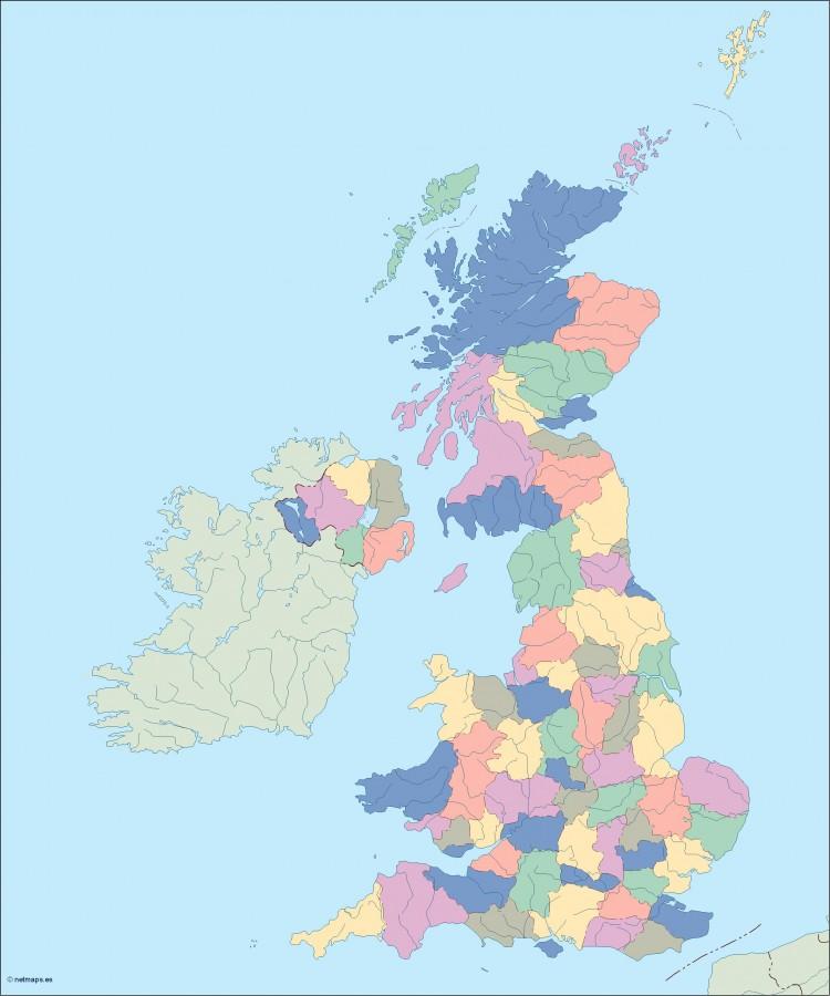 Illustrator Vector Eps Maps Eps Illustrator Map Our - United kingdom map vector