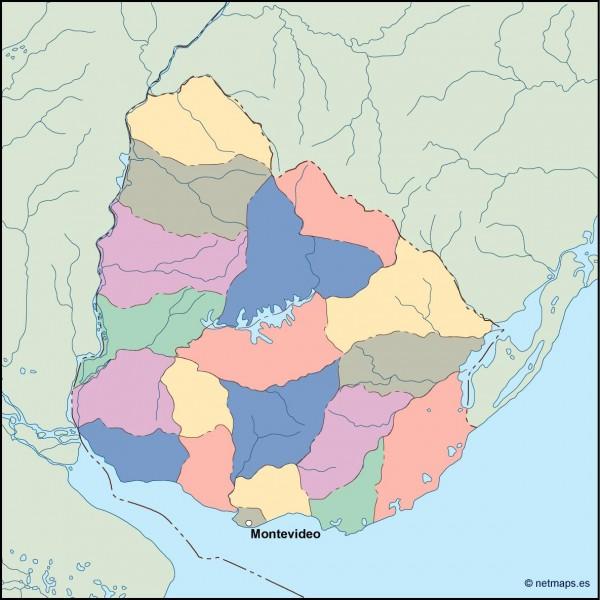 uruguay vector map