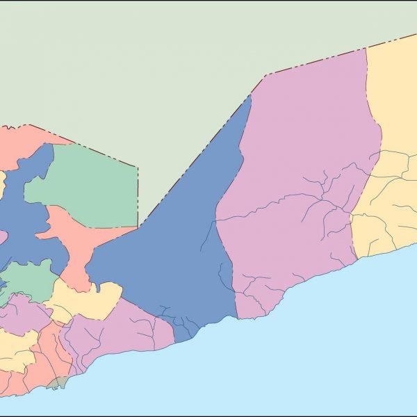yemen blind map