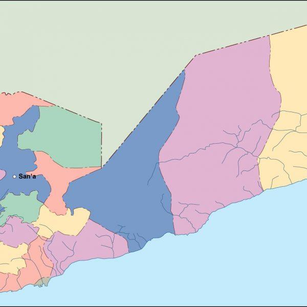 yemen vector map