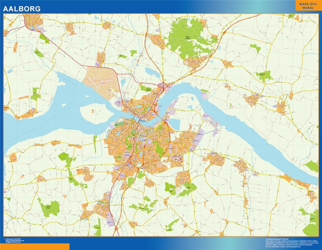 Aalborg Kort Eps Illustrator Map Vector World Maps