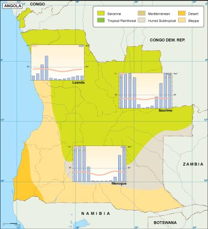Angola climate map