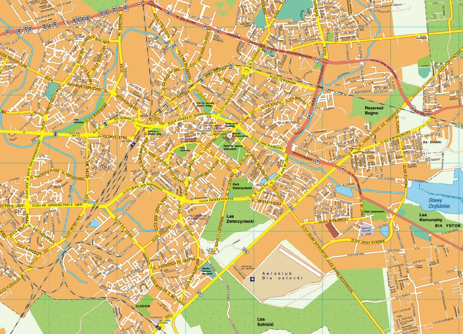 Bialystok EPS map EPS Illustrator Map Our cartographers have made