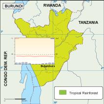 Burundi climate map