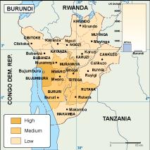 Burundi Economic Map Eps Illustrator Map Vector World Maps