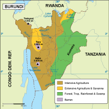 Burundi vegetation map