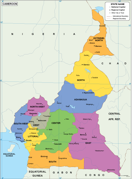 Cameroon EPS map