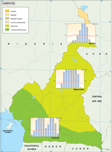 Cameroon climate map