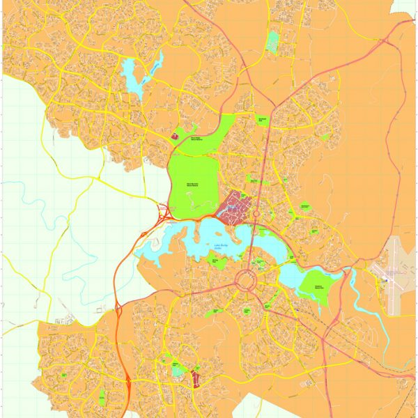 Canberra Vector Maps