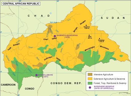 Central Africa Republic Maps Vector Wall Maps from Netmaps