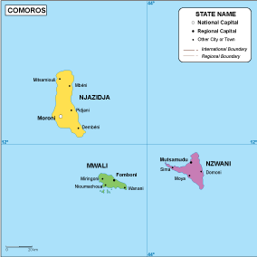 Comoros EPS map