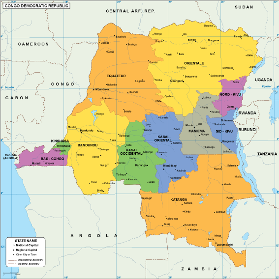 Congo Dem Rep EPS map