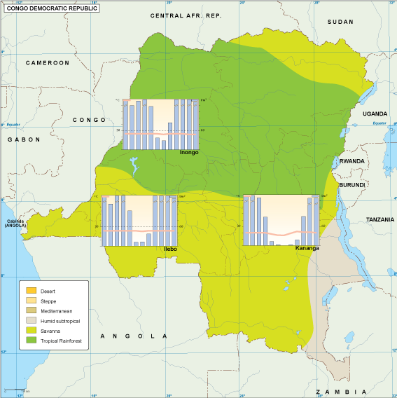 Congo Dem Rep climate map