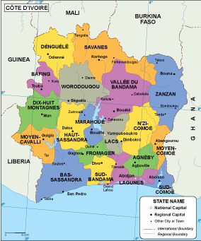 Cote Ivoire EPS map