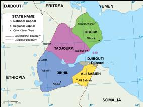 Djibouti EPS map. EPS Illustrator Map