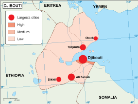 Djibouti population map