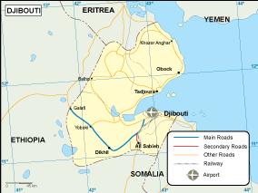 Map Of Africa Djibouti.Djibouti Transportation Map