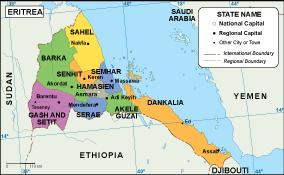 Eritrea EPS map